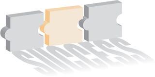 успех головоломки принципиальной схемы Стоковые Изображения RF
