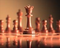 Успех доски шахматов ферзя Стоковые Изображения RF