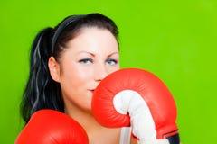 успех женщины дела бокса Стоковые Фото