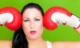 успех женщины дела бокса Стоковые Изображения RF