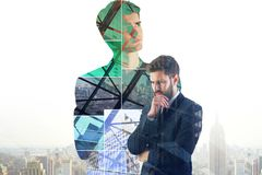 Успех, занятость и думает концепция стоковые изображения rf