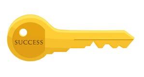 успех золотистого ключа к Стоковые Фотографии RF