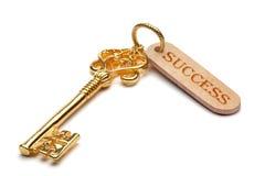 успех золотистого ключа к Стоковые Фото