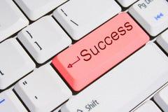 успех ключевой клавиатуры красный специальный Стоковое фото RF