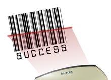 успех кода штриховой маркировки Стоковые Изображения RF