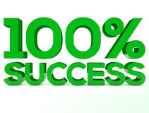 Успех концепция зеленого цвета 100 процентов Стоковые Фотографии RF