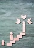 успех к путю Концепция роста карьеры Стоковое Изображение RF