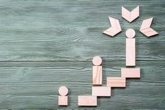 успех к путю Концепция роста карьеры Стоковые Изображения
