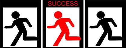успех к путю Стоковое Изображение RF