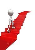 успех лестницы 3d к Стоковые Фотографии RF