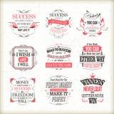 Успех мотивационный и вдохновляющие установленные цитаты Стоковые Фотографии RF