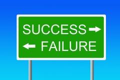 успех отказа против Стоковое Изображение