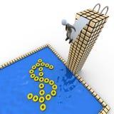 успех пикирования иллюстрация вектора