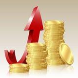 успех принципиальной схемы финансовохозяйственный Стоковое Изображение RF