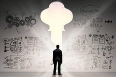 успех принципиальной схемы ключевой к Стоковое Изображение