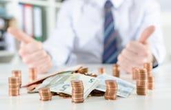 успех принципиальной схемы финансовохозяйственный Стоковые Изображения