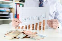 успех принципиальной схемы финансовохозяйственный Стоковая Фотография