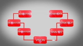 Успех стратегии бизнеса иллюстрация штока