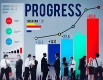Успех стратегии прогресса мотирует концепцию роста развития Стоковые Изображения