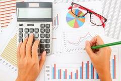 успех финансовохозяйственного показа диаграммы дела Стоковое Фото