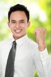 успех человека дела счастливый стоковая фотография rf