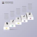 Успех шагает концепция Лестница Infographic шаблон конструкции самомоднейший также вектор иллюстрации притяжки corel Стоковые Изображения