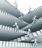 успех штриховок роста принципиальной схемы к иллюстрация вектора