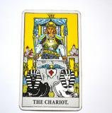 Успех Detemination перемещения карточки Tarot колесницы стоковое изображение