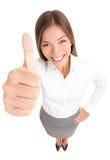 успех thumbs вверх по женщине стоковые фотографии rf
