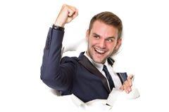 успешная бизнесмена счастливая стоковые фотографии rf