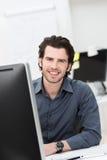 успешная бизнесмена уверенно стоковое изображение