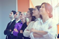 Успешная группа в составе бизнесмены на офисе Стоковые Фотографии RF