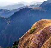 Успешная женщина завоевывая высоты, достигая ее цель Стоковое Изображение