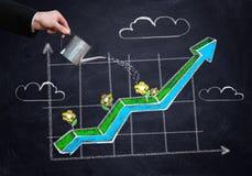 Успешная инвестиционная стратегия стоковые изображения rf