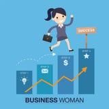 Успешная иллюстрация женщины Стоковые Изображения RF