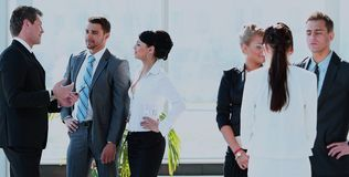 Успешная команда дела в современном офисе Стоковое Фото