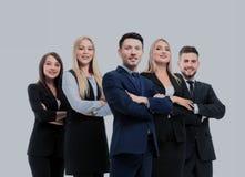 Успешная команда дела изолированная на белой предпосылке Стоковая Фотография