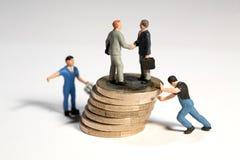 успешная согласования финансовохозяйственная Стоковое фото RF