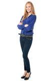 Успешная уверенно молодая женщина Стоковые Изображения
