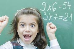 Успешная школьница стоковые изображения rf