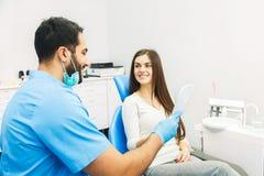 Успешное восстановление зубов Стоковое Изображение