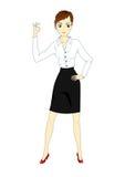Успешное молодое busineswoman Стоковое Изображение