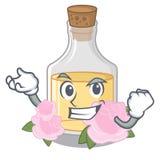 Успешное розовое масло изолированное с талисманом иллюстрация штока