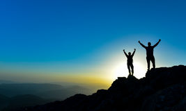 Успешные альпинисты Стоковые Фото