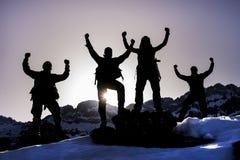 Успешные альпинисты Стоковое Фото