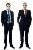 Успешные бизнесмены представляя в стиле Стоковые Изображения RF