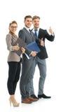 Успешные бизнесмены смотря счастливый и уверенно Стоковые Изображения RF