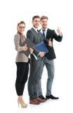 Успешные бизнесмены смотря счастливый и уверенно Стоковая Фотография RF