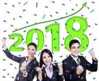Успешные бизнесмены с 2018 Стоковое фото RF