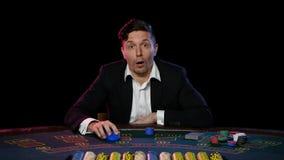 Успешные онлайн выигрыши игрока в покер конец вверх сток-видео